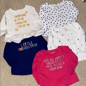 Baby girl graphic long sleeve tee shirts